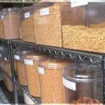 Expositor para venda de cereais a granel